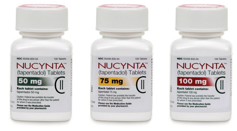 Nucynta addiction and detox; Nucynta - tapentadol - bottles of tablets 50mg, 75mg, 100mg