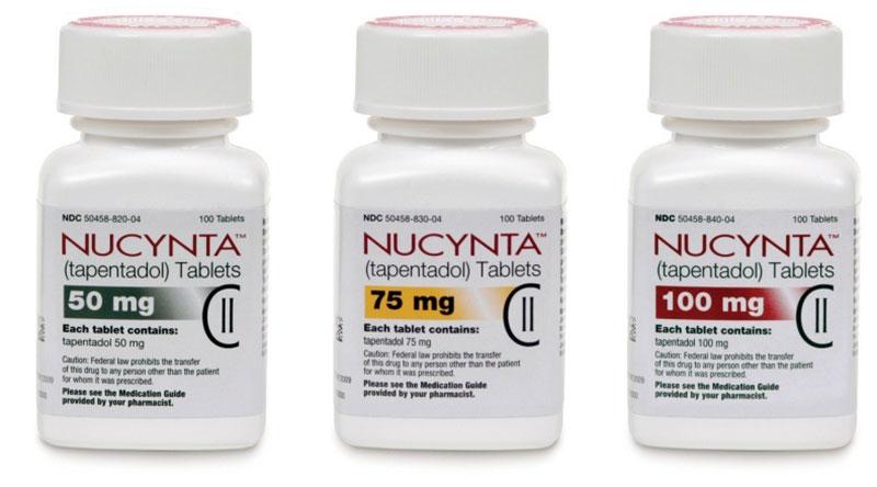 Nucynta addiction and detox; Nucynta - tapentadol - bottles of tablets 50mg, 75mg, 100mg